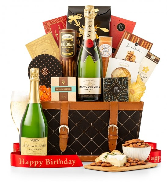 Birthday Wishes Champagne Gift Basket