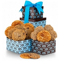 Holiday Greetings Tower with One Dozen Cookies