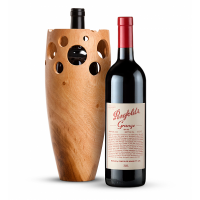 Penfolds Grange 2010 with Handmade Wooden Wine Vase