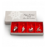 Saint Nicholas Pewter Ornament Set