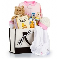 Winnie the Pooh Embroidered Baby Gift Set-Girl