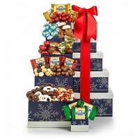 Chocolate Cheer Holiday Tower