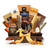 Generous Gourmet Nuts and Chocolate Basket