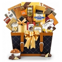 A Golden Holiday Gift Basket