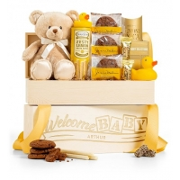 Welcome Baby Personlized Crate