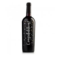 Congratulations Keepsake Red Wine Bottle