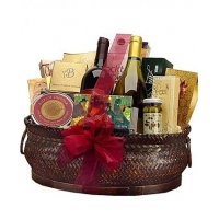 Deluxe Wine and Gourmet Basket