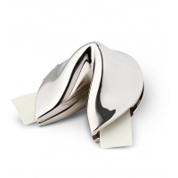 Metal Fortune Cookie with Personalized Fortune