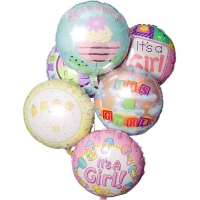 New Baby Balloon Bouquet-6 Mylar