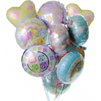 New Baby Balloon Bouquet-12 Mylar