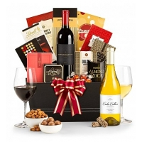 Christmas Wishes Wine Basket