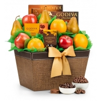 Premium Grade Fruit and Godiva Chocolates