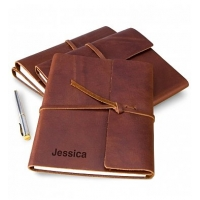 Embossed Fine Leather Journal