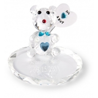 New Baby Boy Crystal Bear with Free Engraving