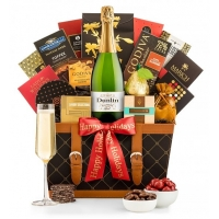 Happy Holidays Champagne Basket