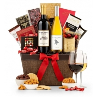 Wine Tasting Gift Basket and Chocolatier's Selection